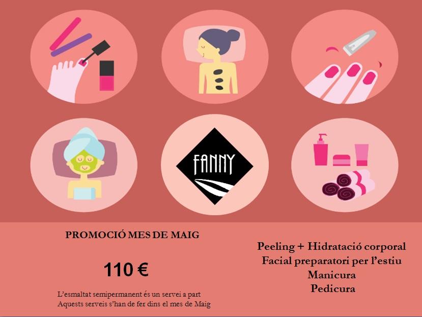 Fanny centre estetica El Masnou, manicura, pedicura, facial peeling, hidratació. El Masnou, maresme bellesa