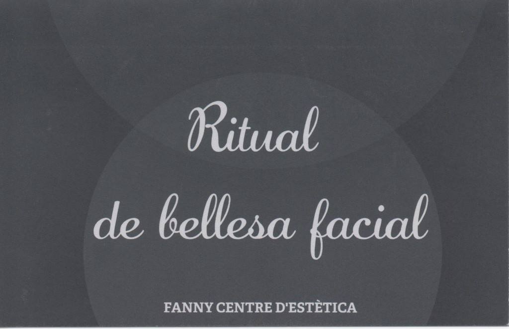 Cheque regalo Facial