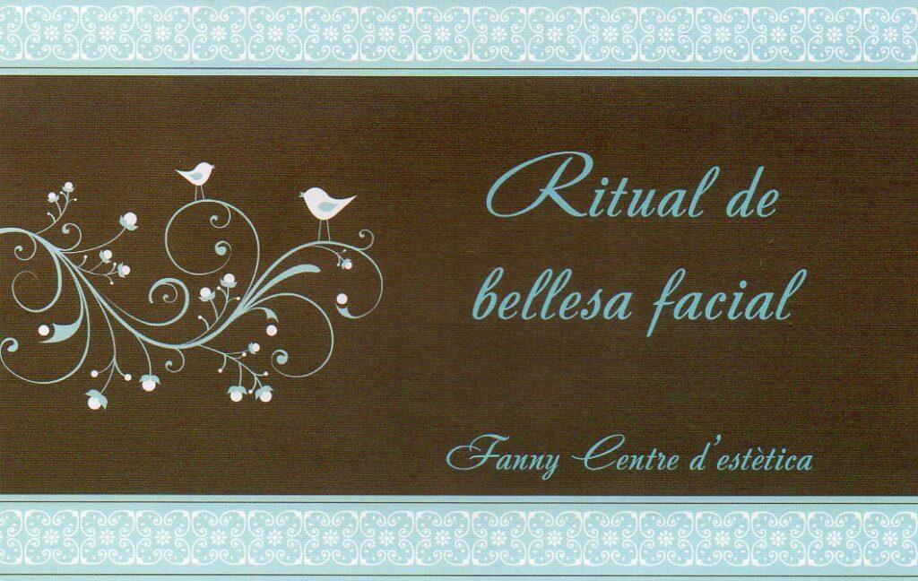 Tarjeta regal ritual de bellesa facial